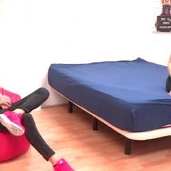 Sarai quiere hacer porno y ha venido a grabar su primera escena.