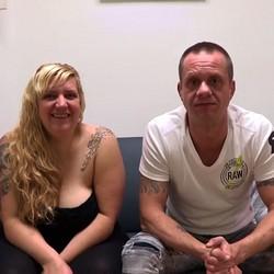 Una tetona con ganas de ser liberal convence a su novio para debutar en el porno: Erika y Dante.