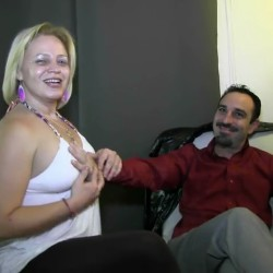 Cristina, blonde broad, and Juan, her husband, make their porn debut at 41 and 35 years old