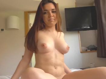 Enjoying with 18yo Diana Rius. Her first homemade porno