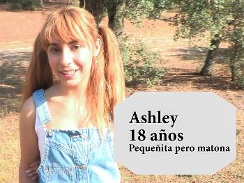 Ashley 18 añitos, pequeña pero matona, acepta una CITA A CIEGAS. Quiere maduros con experiencia ;)