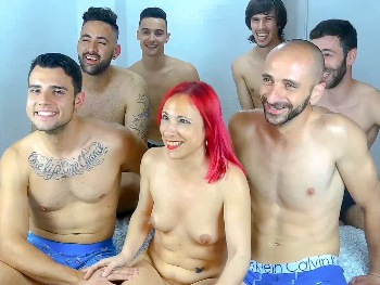 In bed with 6 men. I'm Tania and this is my 'FREE PUSSY day'... tee hee hee, they aren't enough ;P