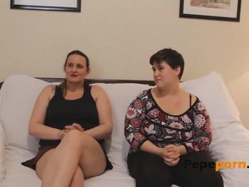 Dos gorditas Made In Spain viviendo sus fantasias sexuales: Lesbico y dos pollas latinas- PepePorn.com