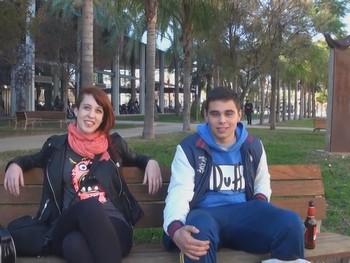 Desflorando universitarios por Valencia. Lilyan sale de caza ;)