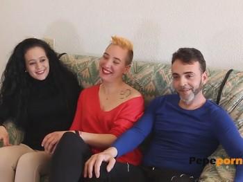 Cumpliendo fantasias, Lucia y Cristian conocen a Sara y se montan un trio. PepePorn.com